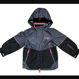 London fog fleece lined wind jacket coat 7 8 M